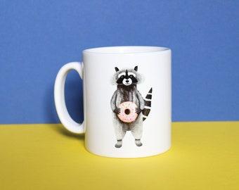 Raccoon Mug, Ceramic Mug, Raccoon Mug, Mug, Coffee Mug, Tea Mug, Raccoon Gifts