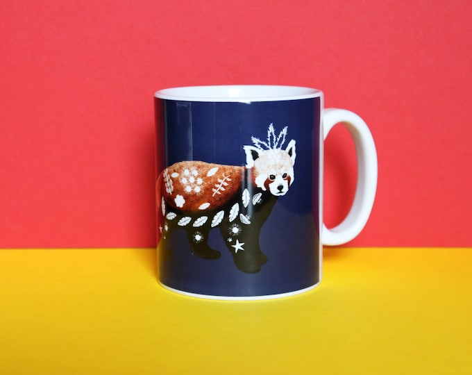 Red Panda Mug, Misprint, Defects, As Is, Defect, Reduced Price