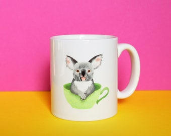 Koala Mug, Defects, as is, defect, reduced price