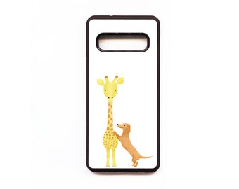 Giraffe & Dachshund Phone Case, Giraffe Samsung phone Case, Animal Phone Case