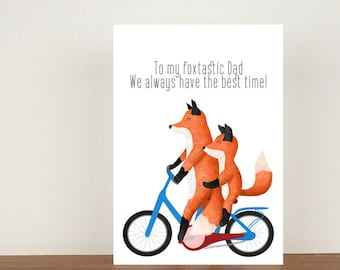 To My Foxtastic Dad We Always Have The Best Time Card, Greeting Card, Animal Card, Fathers Day Card, Fathers Day, Fox, Fox Card