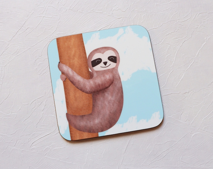 Sloth Coaster, Coaster, Drinks Coaster, Gifts for him, Gifts for her, Birthday Present, House Warming Present, Animal Coasters, Sloth