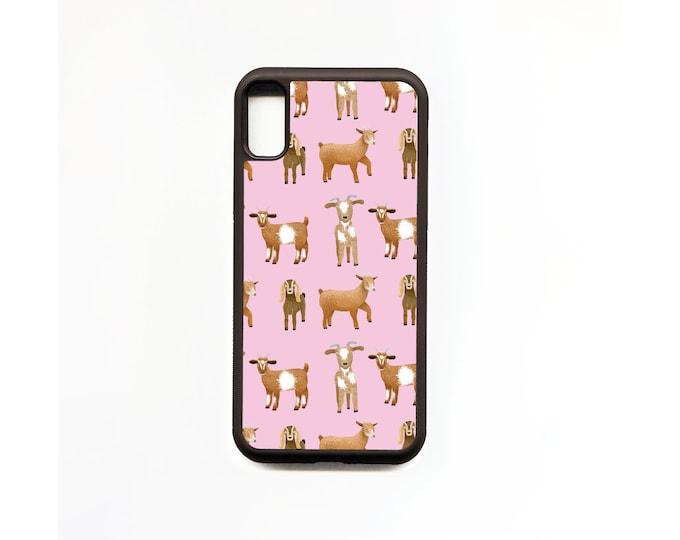 Goat Phone Case, Pink, Goat iphone Case, Animal Phone Case, Rubber Phone Case