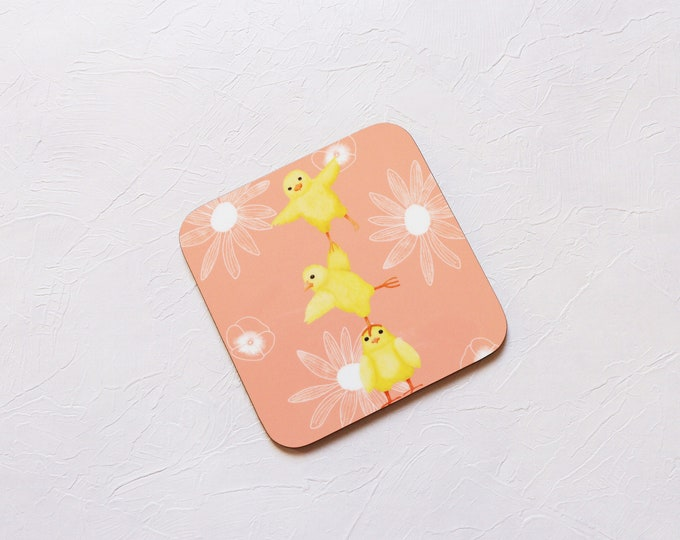 Chick Coaster, Coaster, Drinks Coaster, Gifts for him, Gifts for her, Birthday Present, House Warming Present, Animal Coasters, Chick