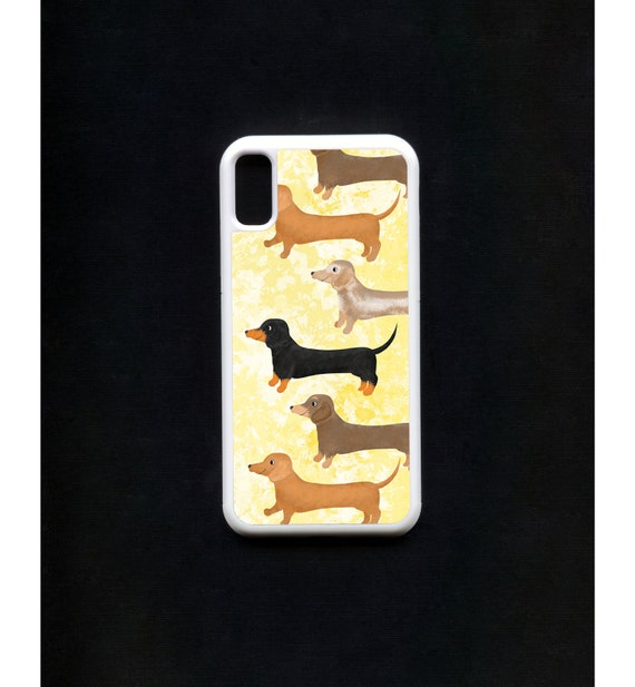 Dachshund Phone Case, Dachshund iphone Case, Illustration, Animal Phone Case, Rubber Phone Case, Plastic Phone Case
