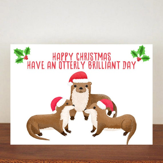 Glücklich Weihnachten haben eine Otterly genialer Tag | Etsy