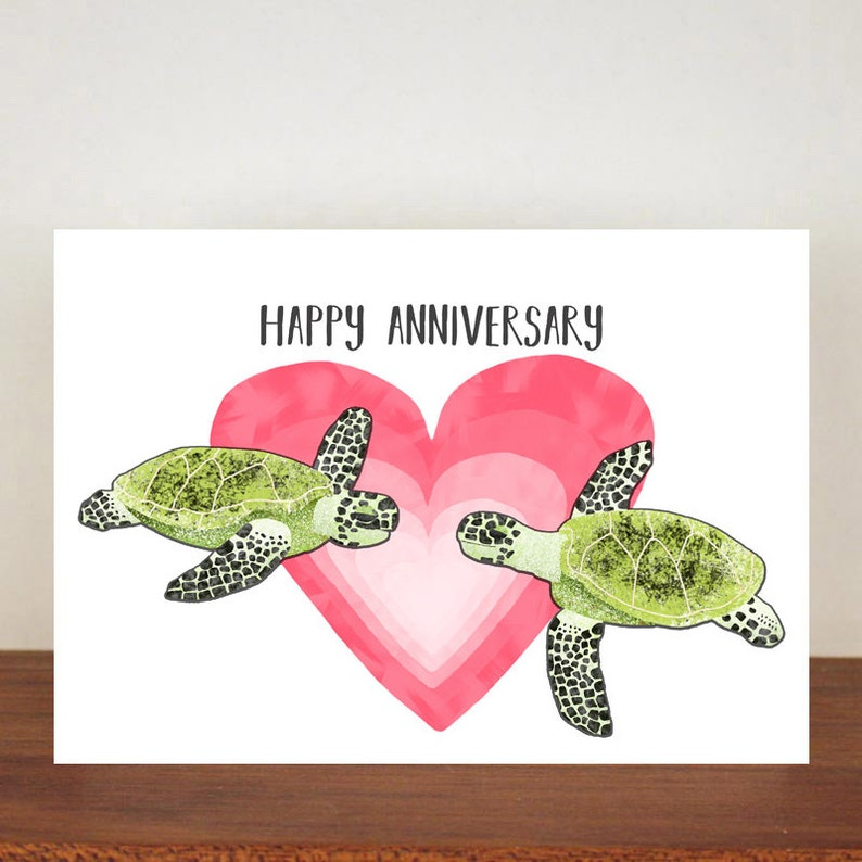 Cards Anniversary Card Turtle I Turtley Love You Card Valentines Card I Turtley Adore You Card Love Greeting Cards Turtle card