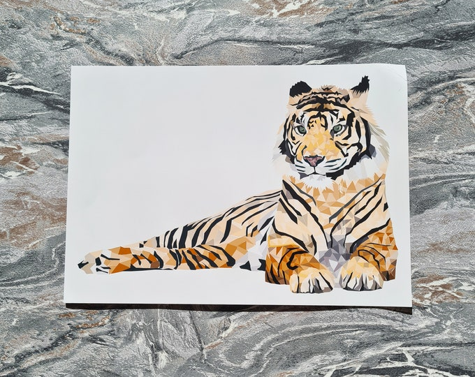 Tiger Print, A4 Print, Misprint, Seconds, As Is, Reduced Price