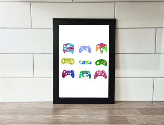 Gamer Print, Gamer Art, Print, A3 Print, A4 Print, Wall Art, Wall Decor, Gaming, Gamer