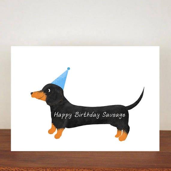 Happy Birthday Sausage Birthday Card Card Greeting Card Etsy