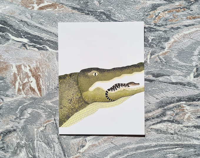 Alligator Print, A6 Print, Misprint, Seconds, As Is, Reduced Price