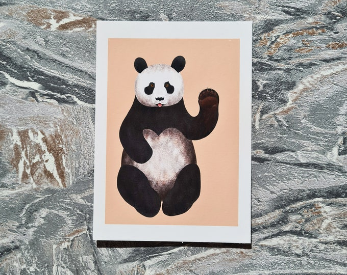 Panda Print, A6 Print, Misprint, Seconds, As Is, Reduced Price