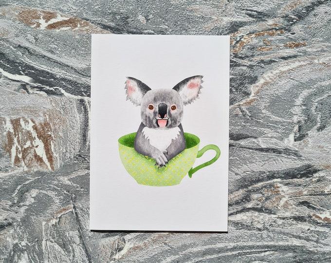 Koala Print, A6 Print, Misprint, Seconds, As Is, Reduced Price