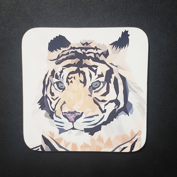 Tiger Coaster, Coaster, Drinks Coaster, Gifts for him, Gifts for her, Birthday Present, House Warming Present, Animal Coasters, Tiger
