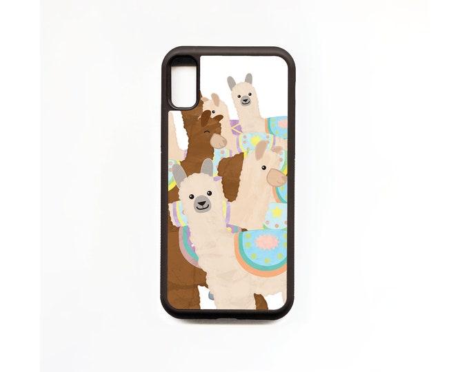 Alpaca Phone Case, Alpaca iphone Case, Illustration, Animal Phone Case, Rubber Phone Case, Plastic Phone Case