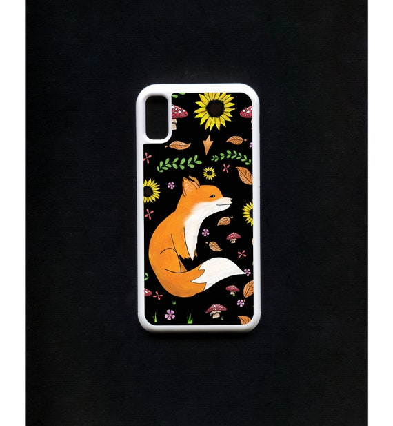 Fox Phone Case, Fox iphone Case, Illustration, Animal Phone Case, Rubber Phone Case, Plastic Phone Case