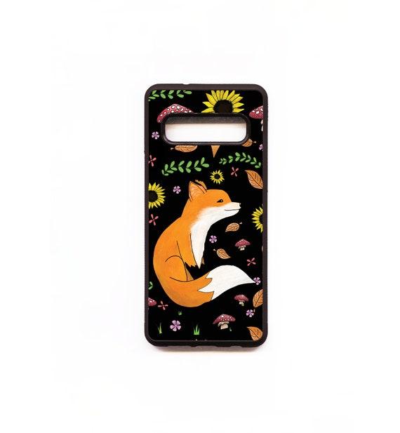 Fox Phone Case, Fox Samsung phone Case, Illustration, Animal Phone Case, Rubber Phone Case, Plastic Phone Case