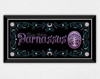 Darnassus Banner | PDF Cross Stitch Chart / Pattern Digital Download | Alliance - Banner - 8bit - Night elves