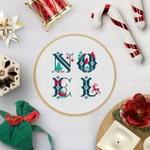 NOEL / Christmas / Weihnachten | PDF Cross Stitch Chart - vintage