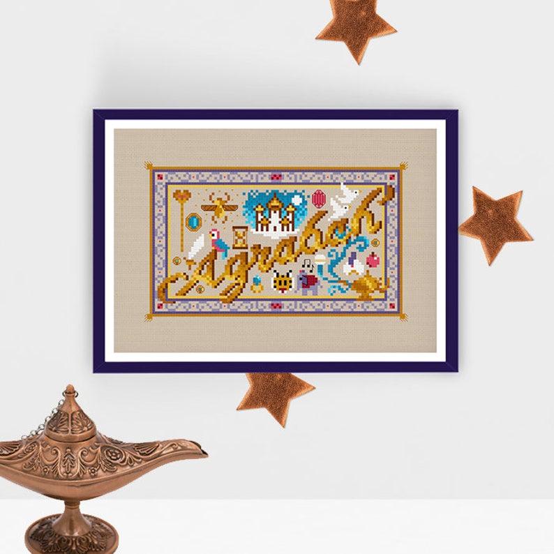 Agrabah Mini Sampler  PDF Cross Stitch Chart image 0