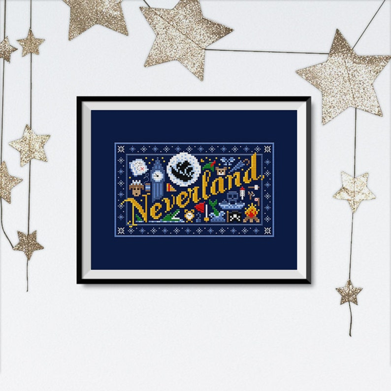 Neverland Mini Sampler  PDF Cross Stitch Chart image 0