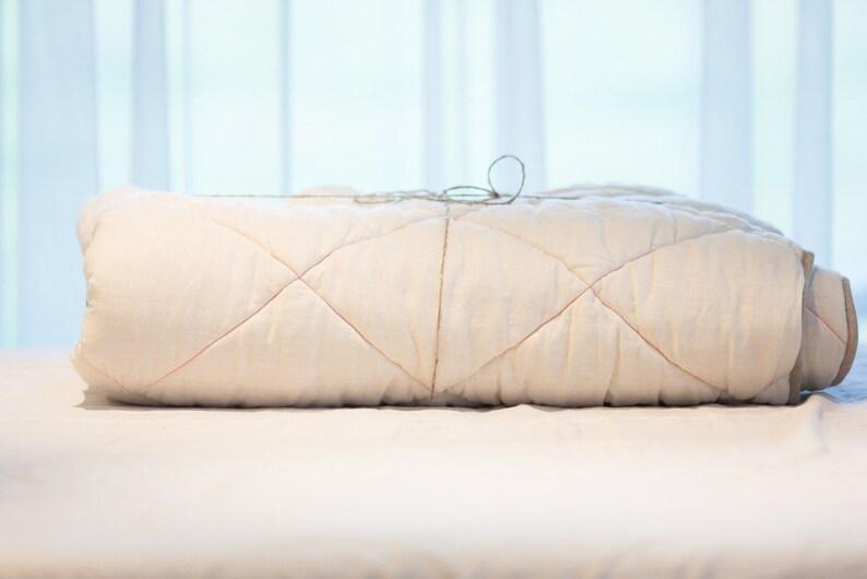 Linen bed cover Organic quilt Linen comforter Organic comforter Natural wool duvet Linen duvet Summer duvet Linen quilt