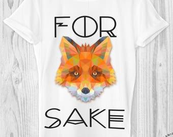 Fox shirt, fox sake, mens tshirt, funny tshirts, graphic tee, tee, Organic clothing, ethical clothing, vegan shirt