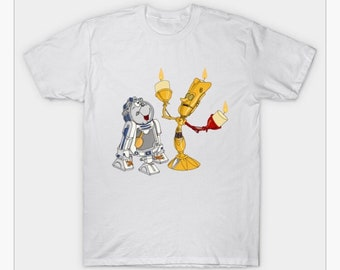 b7d2d4dced Star Wars Shirt EngulffireDesigns Lumiere C3PO R2-D2 Beastly Duo