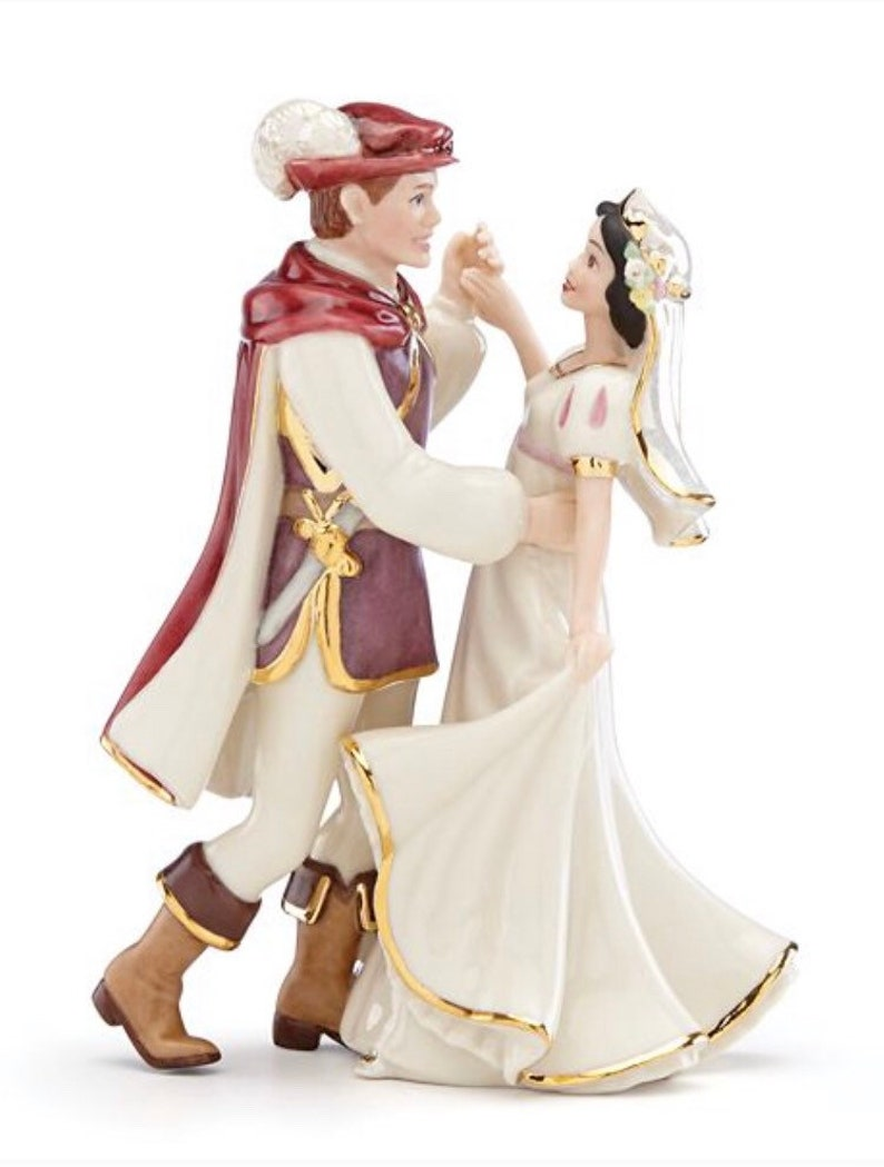 e888c5646bd5 Lenox Disney Wedding Cake Topper Figurine Snow White Prince