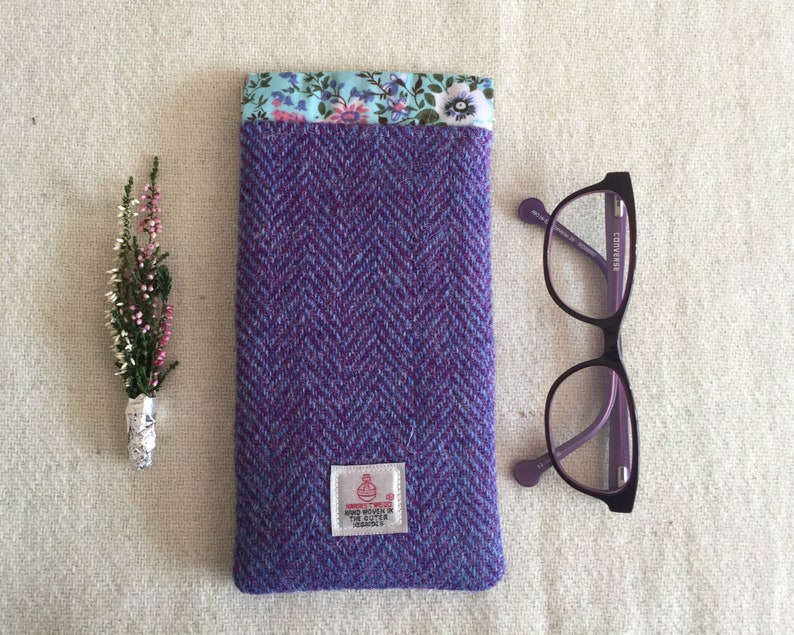 b48cba325c19 Heather Harris Tweed Sun Glasses Case Protect your Glasses