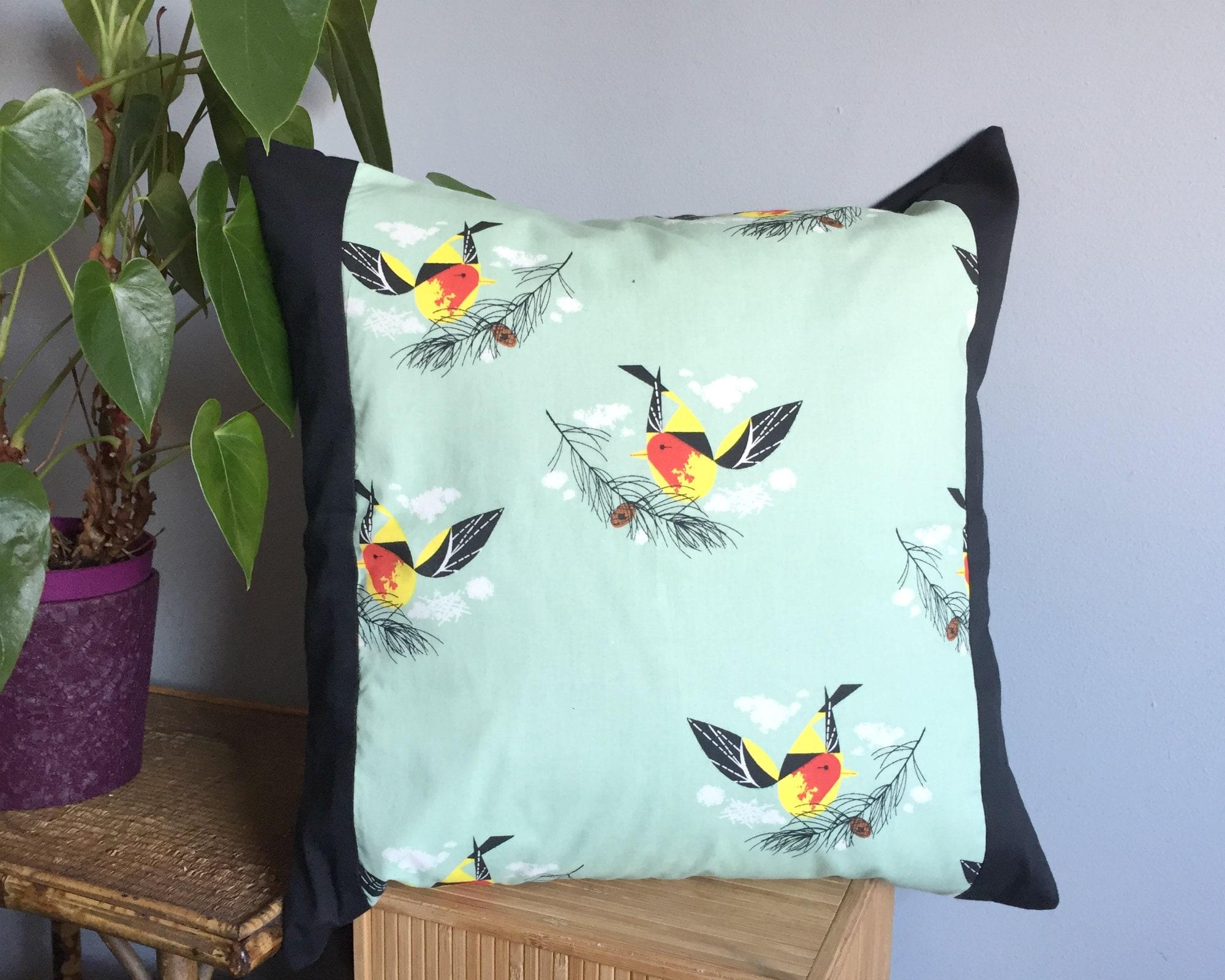 Mid Century Modern Pillow Charley Harper Design   Etsy