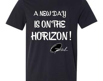 A New Day Is On The Horizon shirt, Oprah Winfrey ladies 3/4 sleeve shirt, blouse