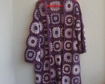 Crochet Granny Cardigan ,Crochet Cotton Jacket Clothing