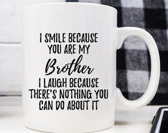 Brother Mug Gift From Sister Gifts For Birthday Of The Bride Coffee