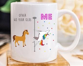 Unicorn Mug 40th Birthday Gift For Women 40 And Fabulous 1979 Gifts Bday 832