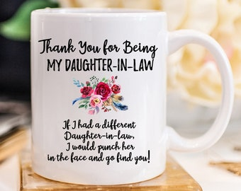 Daughter In Law Gift Mug For Christmas Wedding Coffee