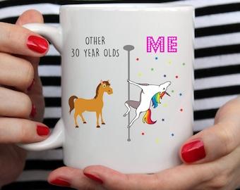 30th Birthday Mug Best Friend Gift For Her Unicorn Hello Thirty Dirty 30 Thirtieth 832