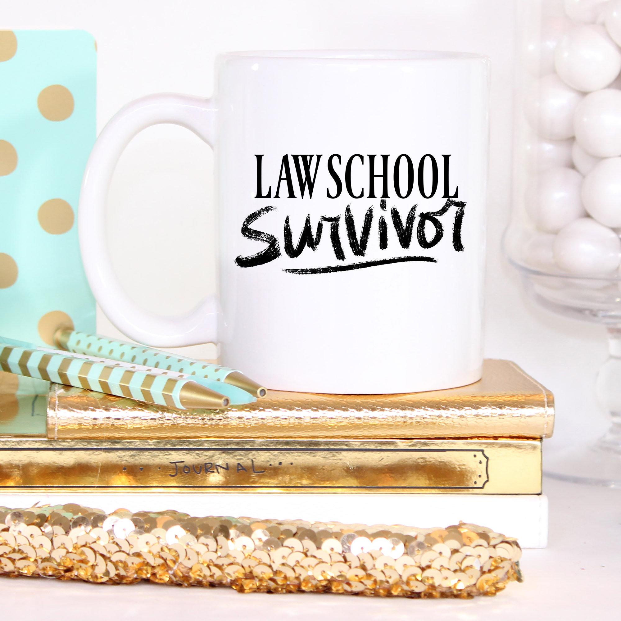 8a88a469f05 Law Student Coffee Mug Law School Survivor Law School