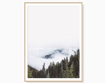 Nature Prints,Forest Print,Nordic Print,Forest Art Print,Scandinavian Print,Mountain Print,Wall Art Prints,Forest Wall Art,Digital Download