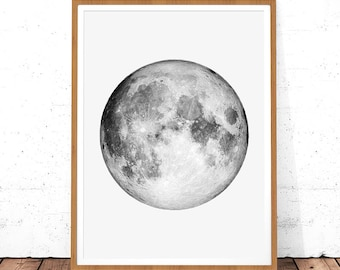 photograph about Printable Moon known as Moon printable Etsy