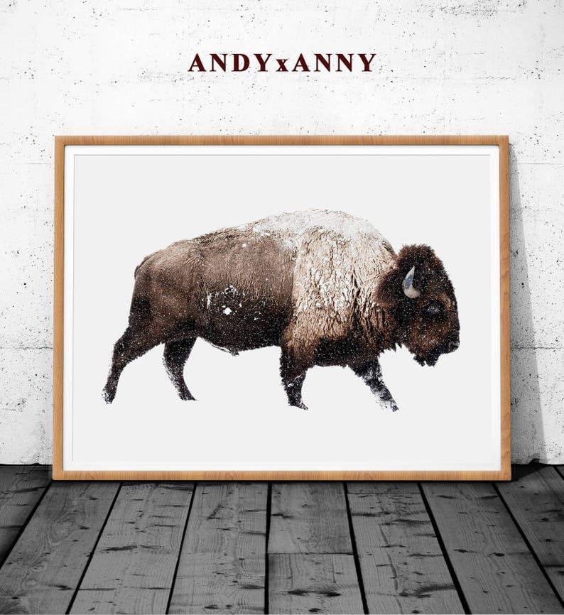 Bison Wall Decor Bison Animal Poster Print Bison Poster Print Large Wall Art Print Bison Print Bison Digital Prints Buffalo Wall Art