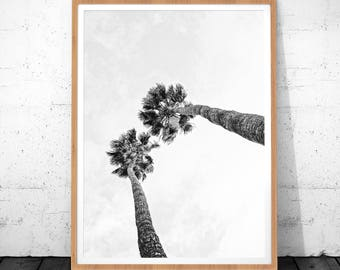 Palm Print, Palm Tree Print, Black And White Palm, Tropical Wall Art, Palm Tree Printable Poster, Palm Tree Poster, Palm Tree Art, Poster