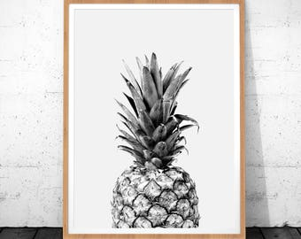 Fruit Print Art, Pineapple Art, Tropical Print, Pineapple Photo, Tropical, Fruit Print, Pineapple Wall Art, Fruit Art, Printable Wall Art