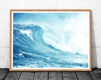 Ocean Waves Print, Wave Art, Ocean Print, Ocean Wall Art, Ocean Art, Ocean Wave, Waves Print, Ocean Photo, Ocean Waves Printable, Sea Print