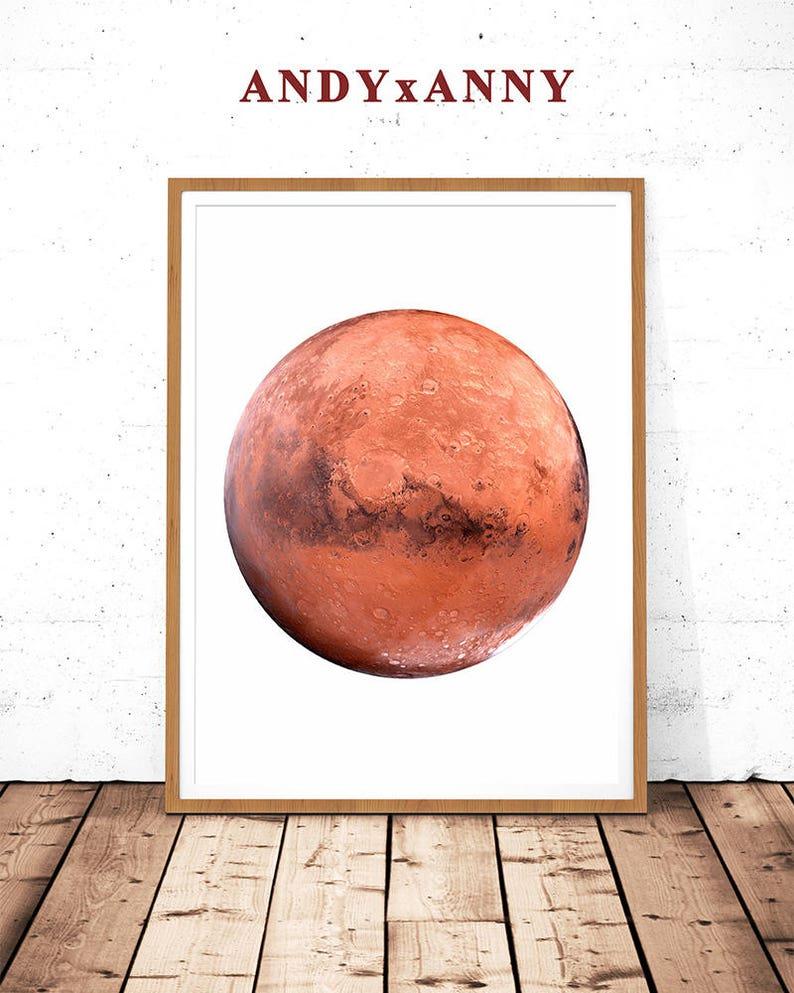 dcd9183021abc Mars Photography Mars Poster Mars Printable Mars Decor Mars   Etsy