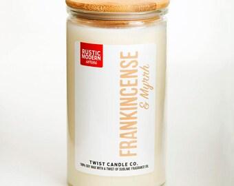 Frankincense & Myrrh 18oz Soy Wax Candle