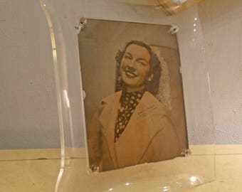 Amazing 1940s LUCITE Picture Frame Glamorous Modernist Glam Hollywood Luxury
