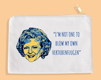 Rose Golden Girls Makeup Bag  // Golden Girls // Blanche Sophia Rose Dorothy // Thank you for being a friend // Cosmetic Bag // Betty White