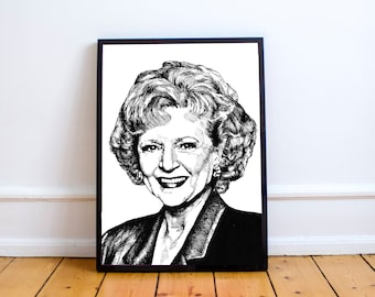 The Golden Girls Wall Art // Rose Nylund  // Dorothy Sophia Rose Blanche // Thank you for being a friend // The Golden Girls // Betty White