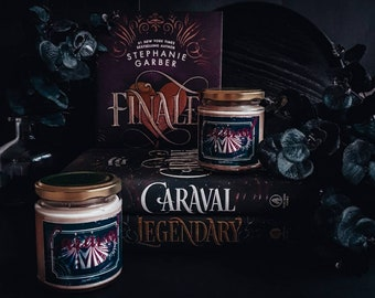 """Book inspired soy wax candle """"Caraval"""" / Legend / Finale"""